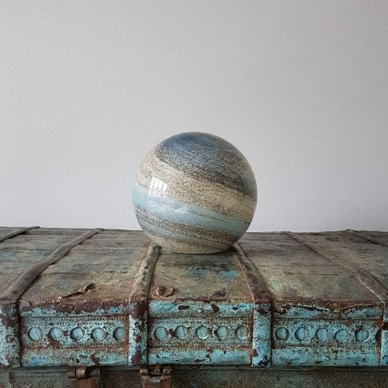 Sand & Sea - Hand Blown Small Sphere Light